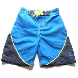 Lucky Brand Blue Colorblock Swim Board Shorts 18M